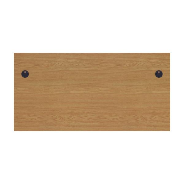 Jemini 1800mm Nova Oak Rectangular Panel End Desk