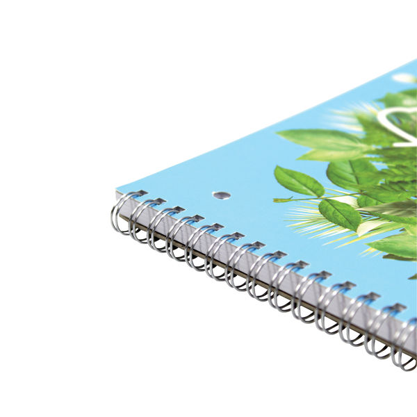 Silvine A4 Everyday Twin Wire FSC Ruled with Margin Notebooks - Pack of 5 - R202