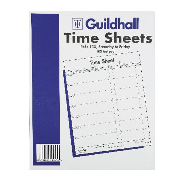 Guildhall 7 Day Time Sheet Pad 100 Leaf 254x203mm OEM: 1653