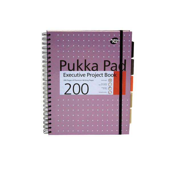 Pukka Pad A4+ Metallic Executive Project Book – Pack of 3 - 6970-MET