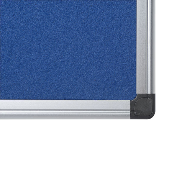Bi-Office Aluminium Trim Felt Notice Board 900x600mm Blue FA0343170