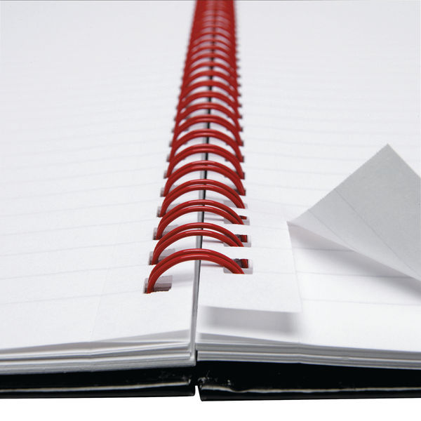 Black n Red A6 Wirebound Hardback Ruled Notebooks - Pack of 5 - D67011