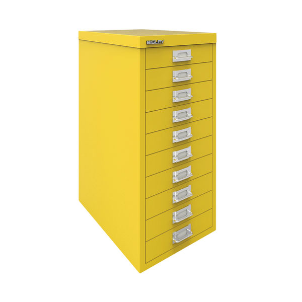 Bisley 590mm Canary Yellow 10 Drawer Cabinet - BY78744