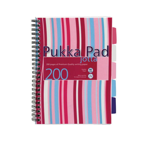 Pukka Pad A5 Polypropylene Project Books, 250 Pages - Pack of 3 - PROBA5