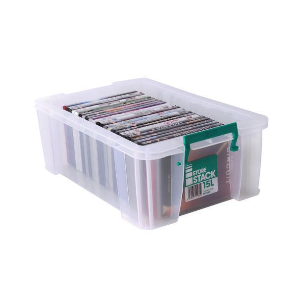 StoreStack 15 Litre Storage Box W300xD470xH170mm Clear RB11085