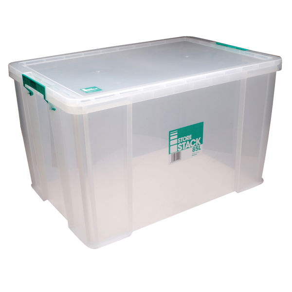 StoreStack 85L Storage Box with Lid - RB11090