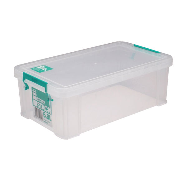 StoreStack 5.8 Litre Storage Box W350xD190xH120mm Clear RB90122