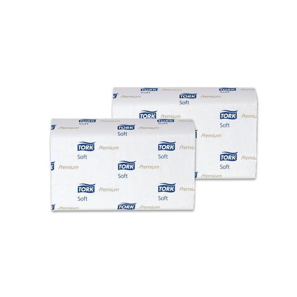Tork Xpress H2 White 2-Ply Interfold Hand Towels, Pk 21 - 100288
