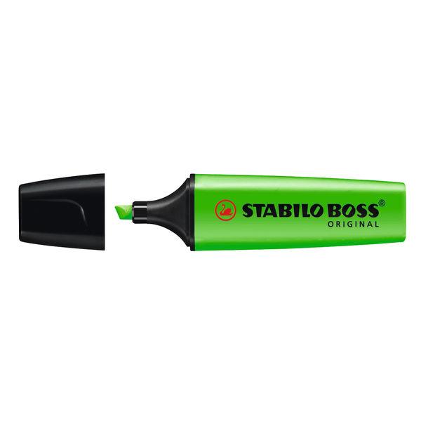 STABILO BOSS Original Green Highlighters, Pack of 10 - 70/33/10