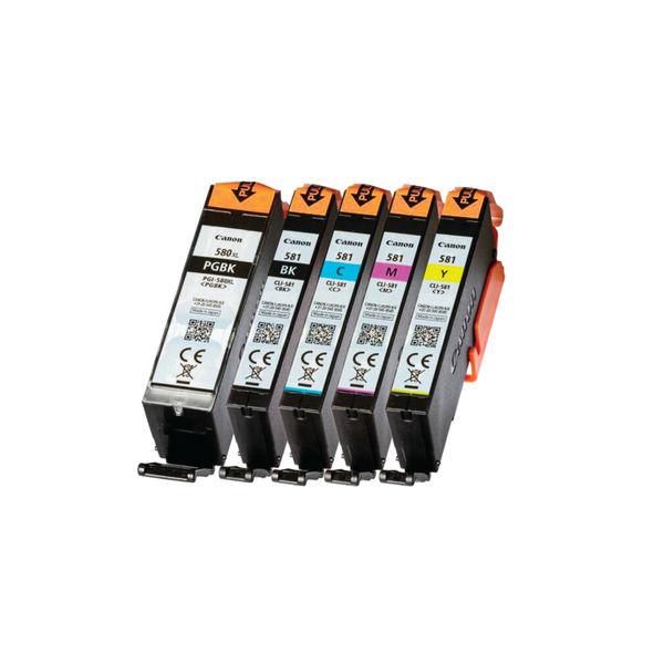 Canon PGI-580/CLI-581 5-Ink Multi Cartridge Pack 2078C005