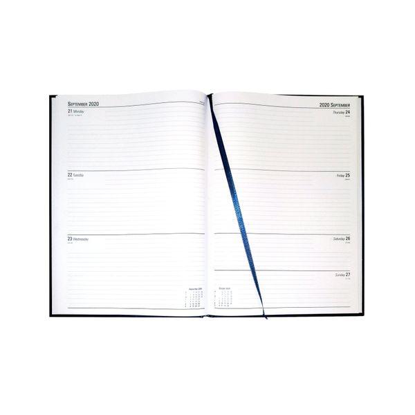 Blue A4 2020 Week to View Desk Diary - KFA43BU20