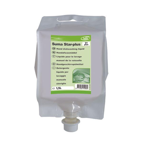 Diversey Suma Star-Plus D1 Dishwashing Liquid 1.5 Litre (Pack of 4) 7010000