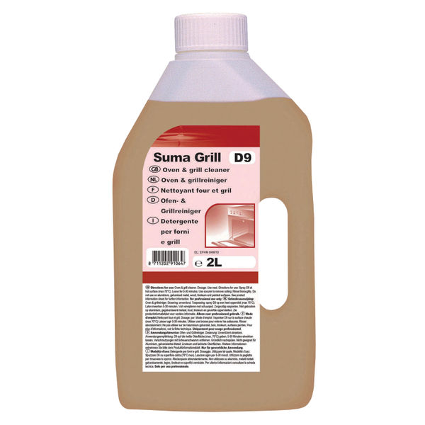 Diversey Suma Grill D9 2 Litre Oven Cleaners, Pack of 6 - 7010064