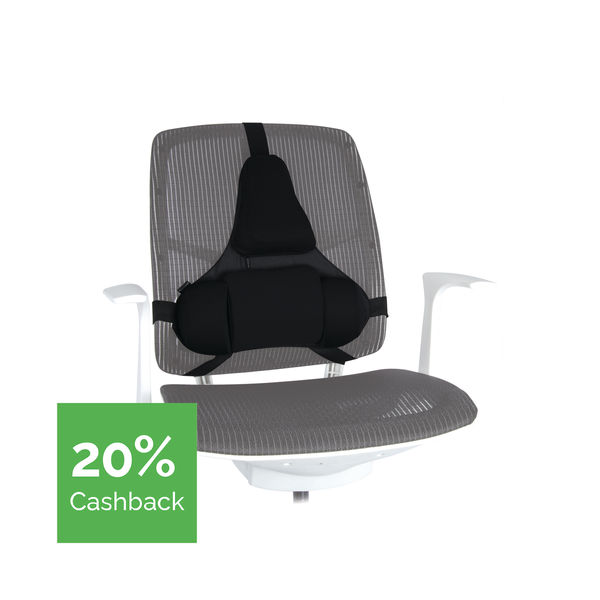 Fellowes Ultimate Back Support Black 8037601 | BB51687