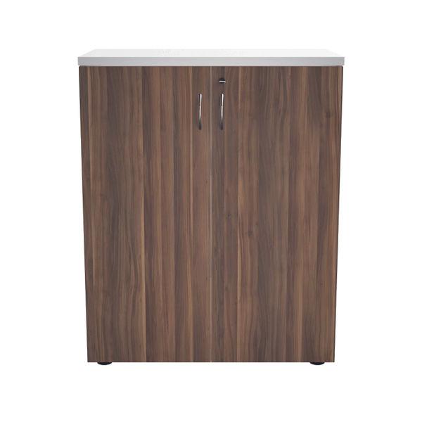 Jemini 700 x 450mm White/Dark Walnut Wooden Cupboard