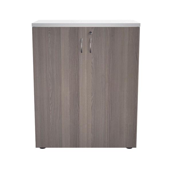 Jemini 700 x 450mm White/Grey Oak Wooden Cupboard