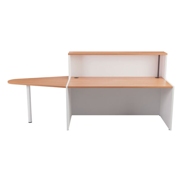 Jemini 1400mm Beech/White Reception Unit with Extension