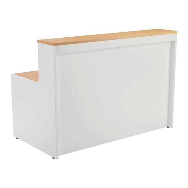 Jemini 1600mm Nova Oak/White Reception Unit