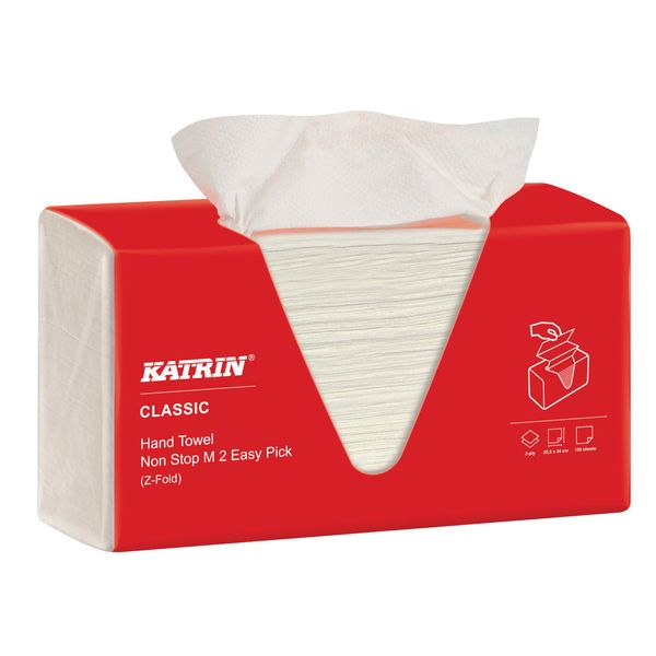 Katrin Classic White M2 Non-Stop Hand Towels (Pack of 8) - 343122