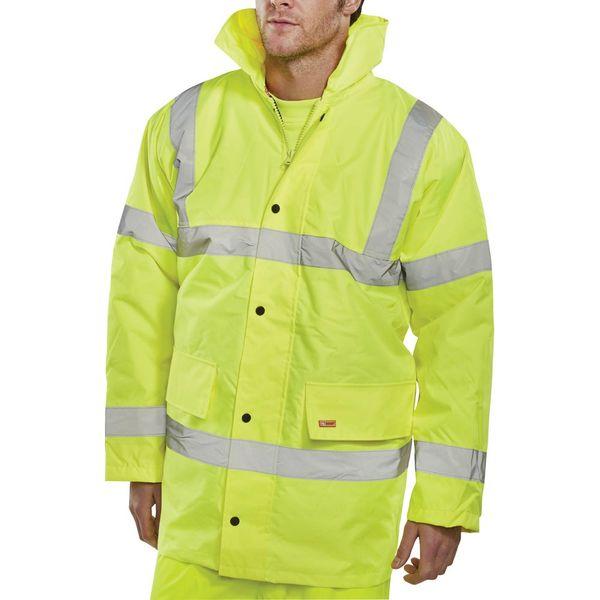 Constructor Saturn XXL Yellow High Visibility Jacket - CTJENGSYXXL