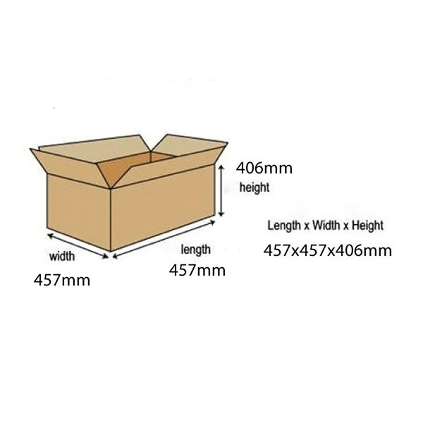 Bankers Box SmoothMove Large Brown/Green Moving Boxes, Pack of 5 - 6205301