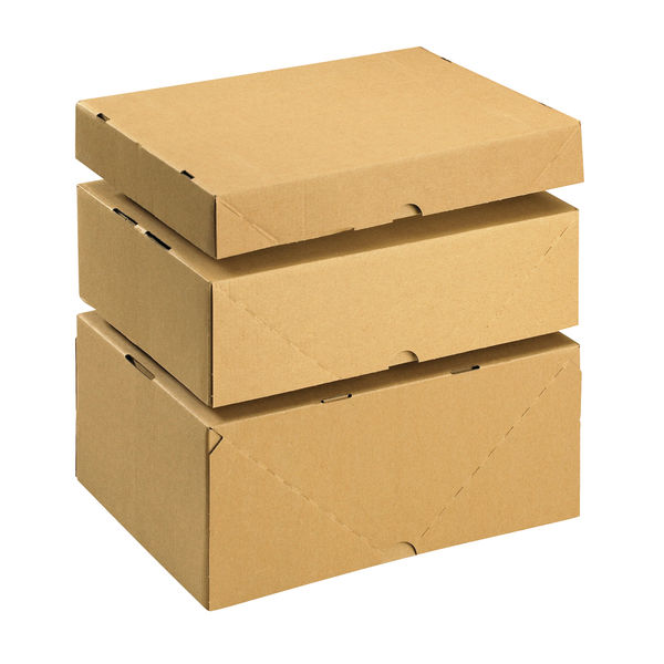 Basics Smart Box A4 Small Brown Cardboard Box & Lid - Pack of 10 - 144666114