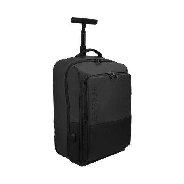 BestLife Travel Trolley Bag with USB Connector BT-3401BK-1