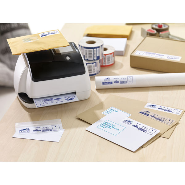 Avery Brown Kraft 140 x 38mm Franking Labels (Pack of 500) – FL17