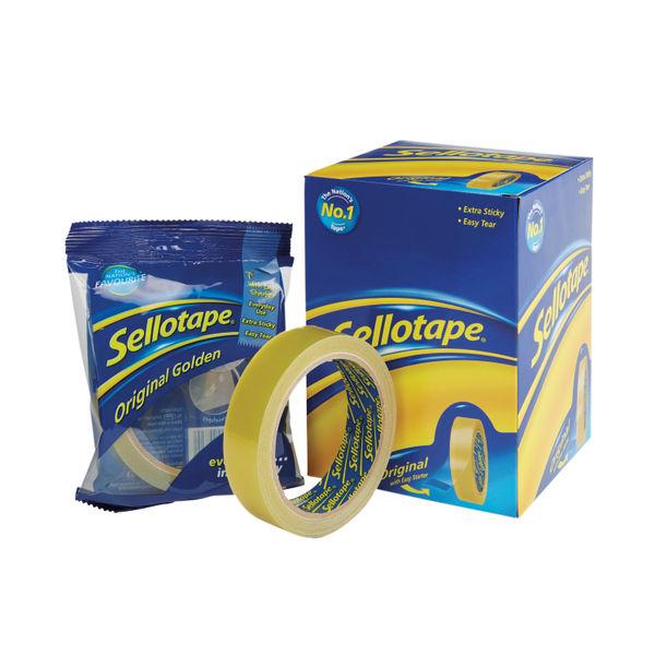 Sellotape Original Golden Tape 24mmx66m (Pack of 6) 2028242