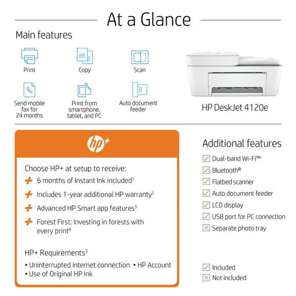 HP DeskJet Plus 4120e All-in-One Printer 26Q90B#687