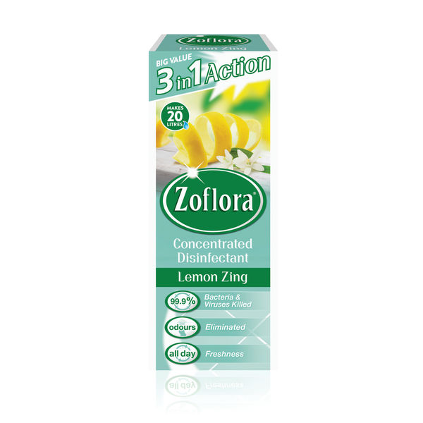 Zoflora Disinfectant Lemon Zing 500ml (Pack of 12) RY20957
