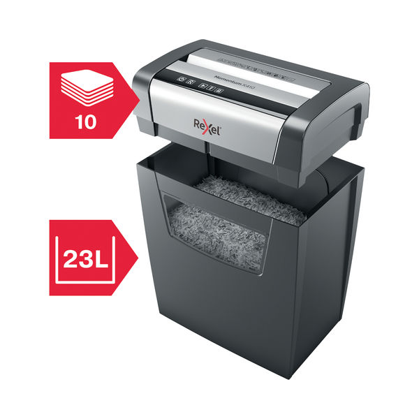 Rexel Momentum X410 Cross-Cut Shredder - 2104571