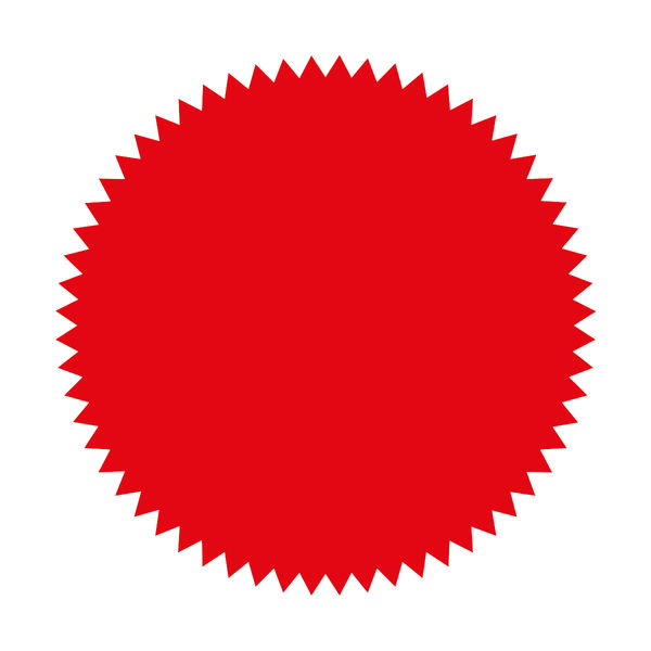 Blick Red 50mm Seal Labels (Pack of 160) - RS014652