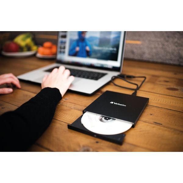Verbatim Slimline CD/DVD ReWriter USB-C 43886