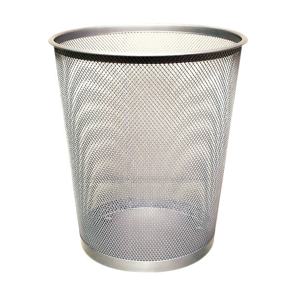 Q-Connect 18 Litre Mesh Waste Basket Silver | KF00849