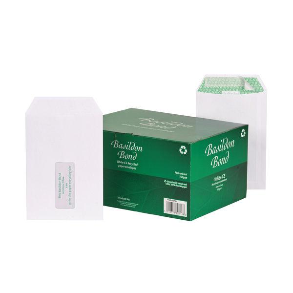 Basildon Bond C5 White Window Pocket Envelopes, Pack of 500 - J80119