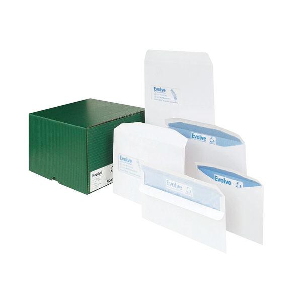 Evolve DL White Plain Recycled Envelopes, Pack of 1000 - RD7882