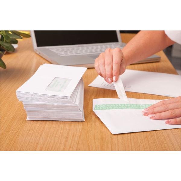 Basildon Bond White Wallet DL Envelopes 100gsm - Pack of 500 - C80116