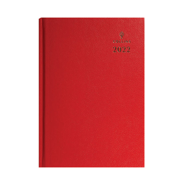 Collins A4 Desk Diary Week To View Red 2022 40.15-22