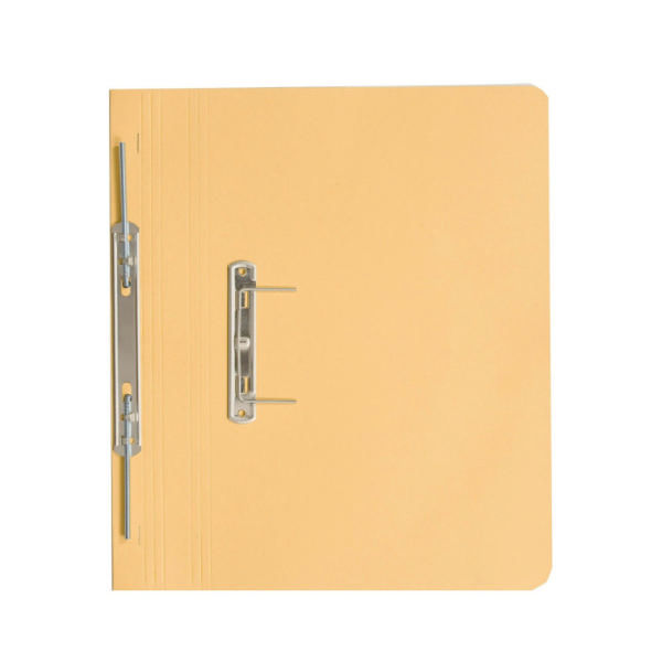 Guildhall Foolscap 420gsm Transfer Spiral Pocket File, Yellow, Pack 25 - GH23036