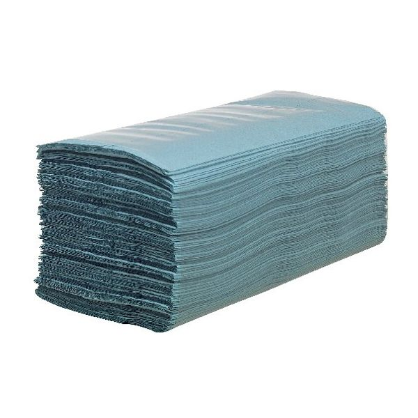 Hostess Hand Towels Blue 224 Sheets (Pack of 12) 6876