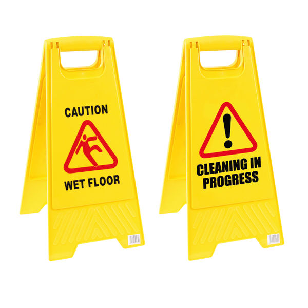2Work A Frame Wet Floor Sign, Yellow | 101423