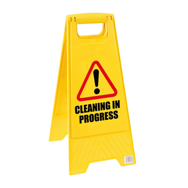 2Work Caution Folding Safety Sign Yellow 101423