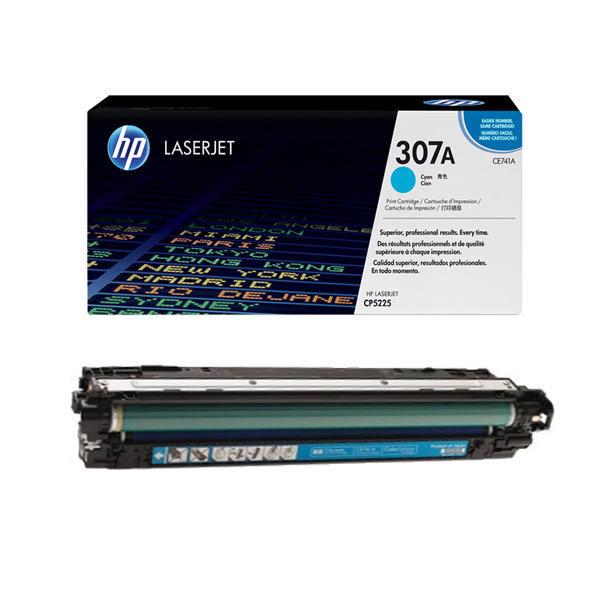 HP 307A Cyan Laserjet Toner Cartridge CE741A