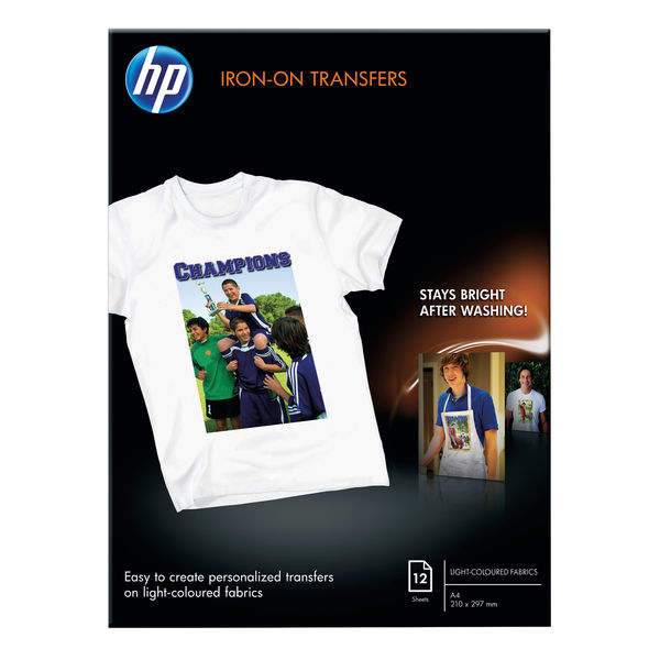 HP Iron-On T-Shirt Transfers A4 170gsm 12 Sheets | C6050A