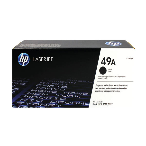 HP 49A Black LaserJet Toner Cartridge | Q5949A