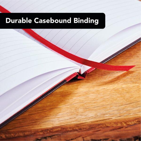 Black n Red Casebound Hardback Notebook 192 Pages A5 (Pack of 5) 100080459