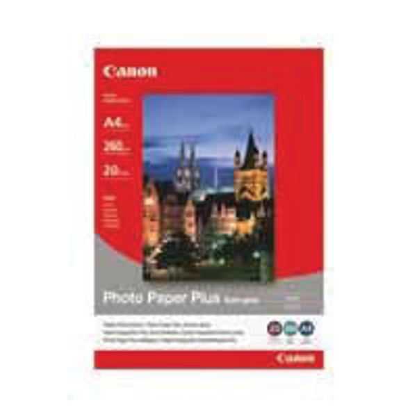 Canon White A4 Semi-Gloss Photo Paper, 260gsm - 20 Sheets - CO40537