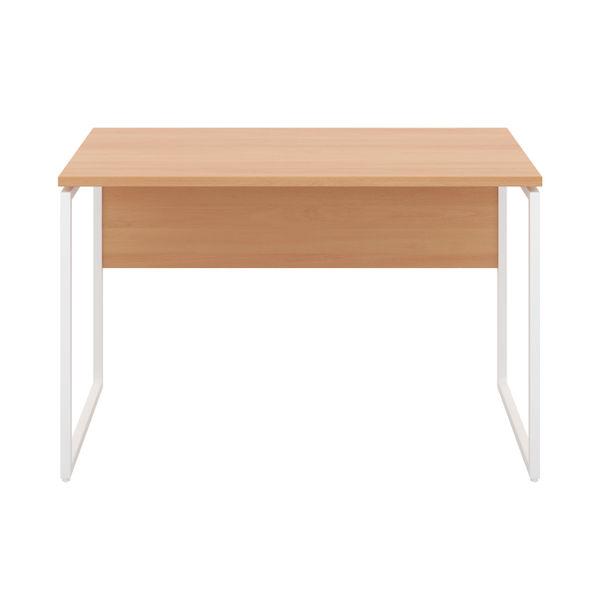 Jemini Soho Beech/White Square Leg Desk