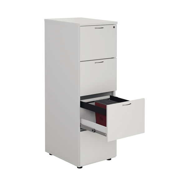 First 1365mm White 4 Drawer Filing Cabinet